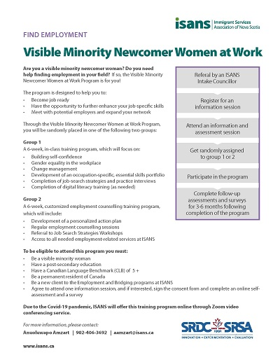 Info Session: Visible Minority Newcomer Women at Work