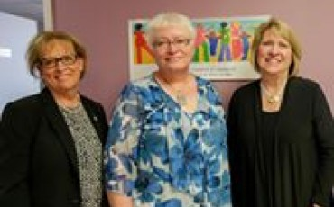 In the photo: Stephanie MacInnis-Langley, Executive Director, Nova Scotia Advisory Council on the Status of Women; Marina Martens, Executive Director, Leeside Transition House; Minister Kelly Regan, Minister Responsible for the Nova Scotia Advisory Council on the Status of Women.