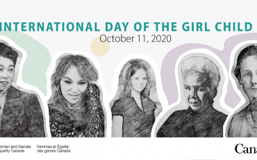 International Day of the Girl banner - Women and Gender Equality Canada